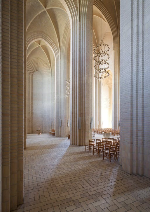 Interior: Grundtvig's Church, Copenhagen, Denmark. Photographer credit: Joris Hoogstede/APA19/Sto.
