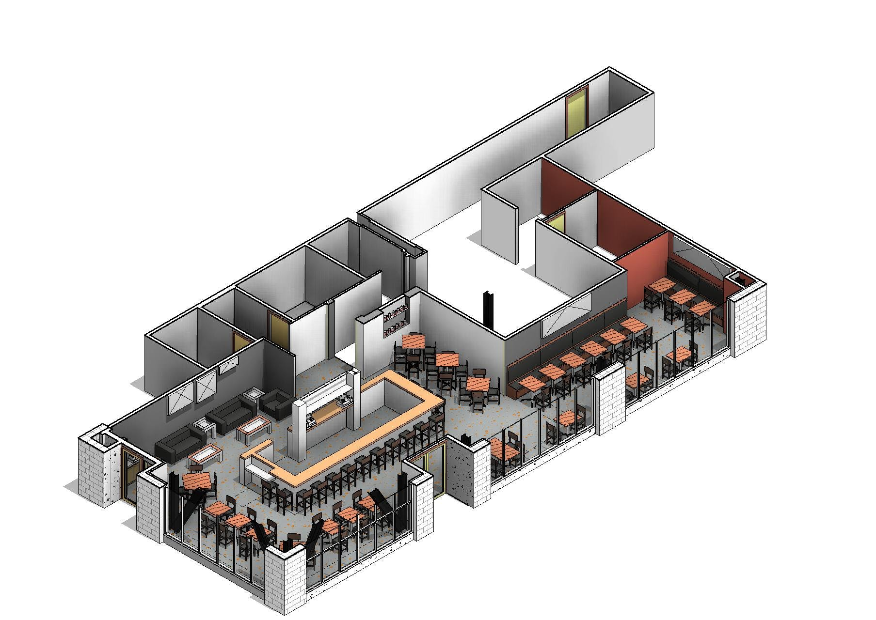 Restaurant Kitchen Revit