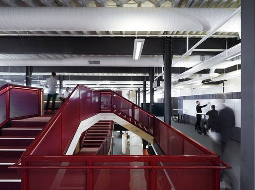 'Workplace Design': Red Energy by Carr. Photo Credit: Earl Carter.