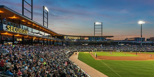 CHS Field Ballpark by Snow Kreilich Architects, Ryan A+E and AECOM. Photo: Paul Crosby.