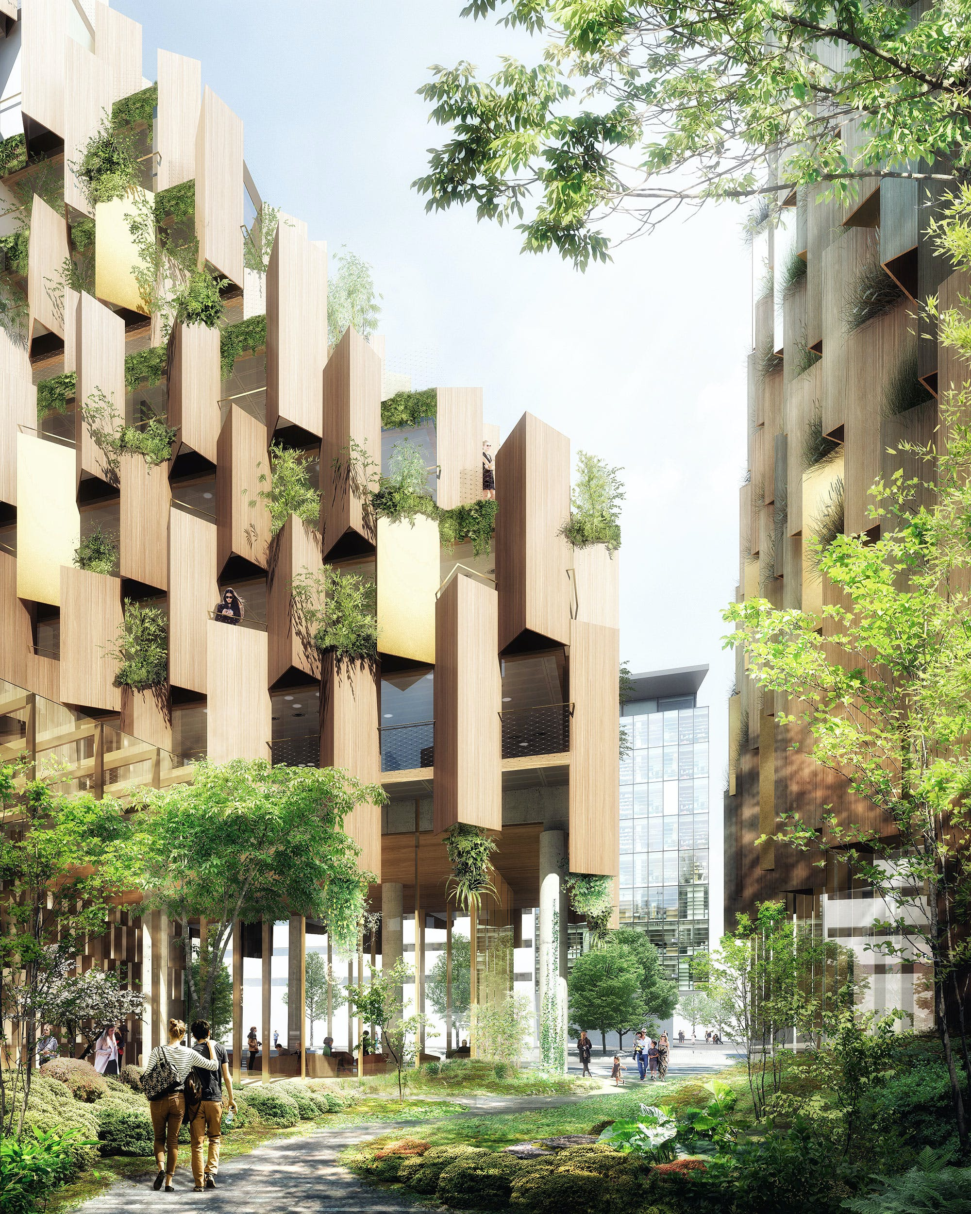 Kengo kuma designs an eco luxury hotel for paris rive for Hotel design paris 6