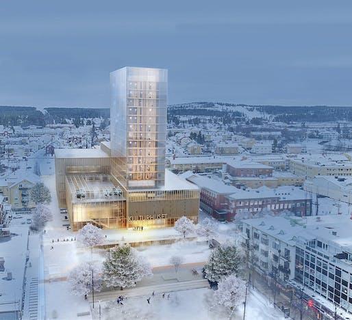 Skellefteå Kulturhus by White Arkitekter. Image: White Arkitekter.