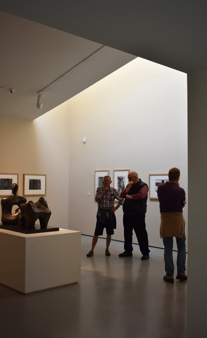 Installation shot from masterpieces: Barbara Hepworth and Henry Moore at The Hepworth Wakefield