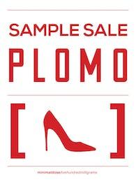 Plomo - Sample Sale Sign