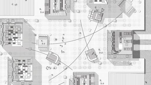 3rd prize: Platform of Motion. Authors: Nusrat Jahan Mim, Arman Salemi (architecture graduate students) | USA