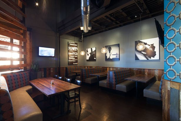 authentic | brand centric restaurant design. vibrant interior finishes with modern industrial styling. 4,873 sq ft