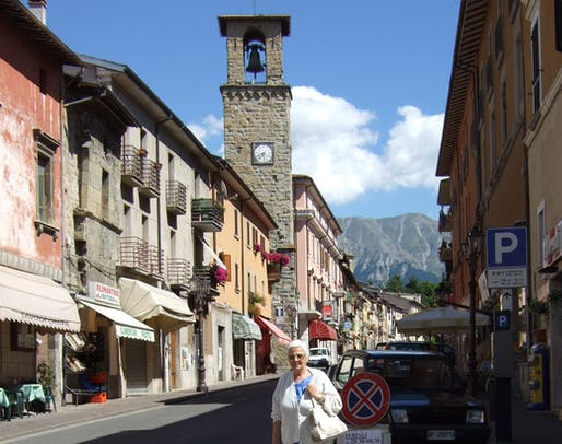 The town of Amatrice before its destruction yesterday. Image via wikimedia.org