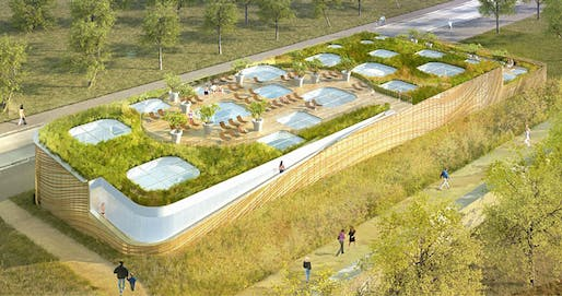 Mikou Design Studio's competition-winning design for Swimming Pool Feng Shui in Issy les Moulineaux, France (Image: Mikou Design Studio)