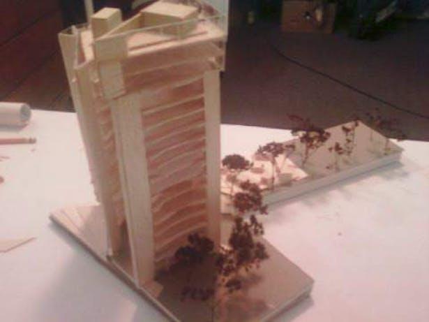 studio-building/ plot design downtown hartford, ct, model