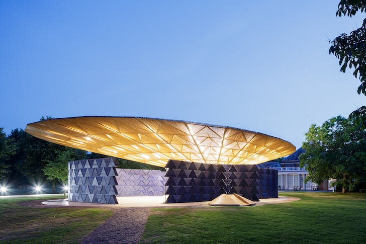 Serpentine Pavilion 2017, designed by Francis Kéré. Serpentine Gallery, London (23 June – 8 October 2017) © Kéré Architecture, Photography © 2017 Iwan Baan