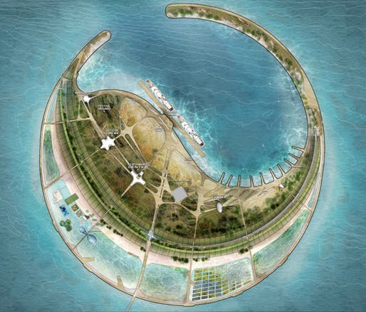 DS+R's winning proposal for the South Sea Pearl Eco-Island development.