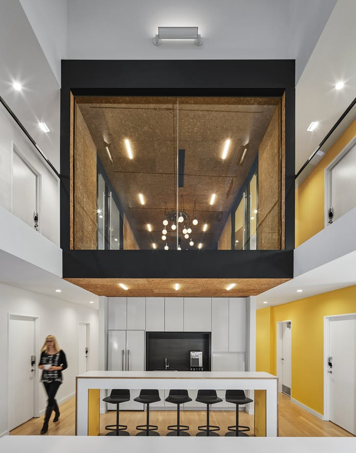 Quinnipiac University Brand Strategy office. Photo: Robert Benson Photography.