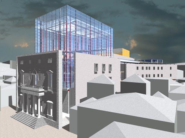 Main facade and box