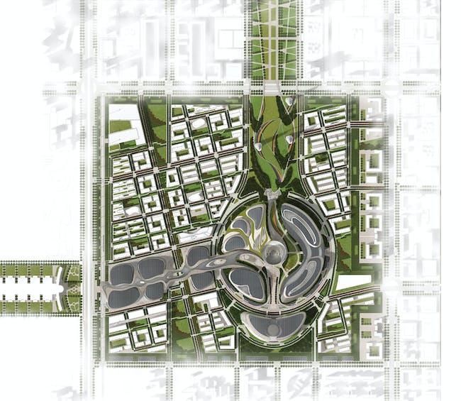 Expo Master Plan. Image © Adrian Smith + Gordon Gill Architecture