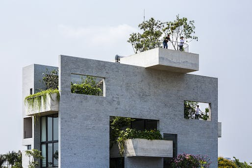 Highly Commended: Binh House in Ho Chi Minh City, Vietnam by Vo Trong Nghia Architects. Photo: Hiroyuki Oki.