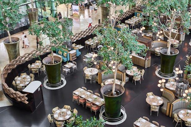 RISE Restaurant at Marina Bay Sands, Singapore, by Aedas Interiors