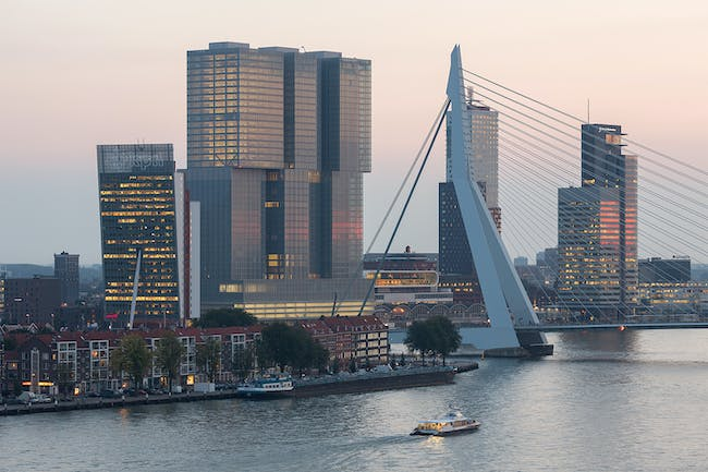 De Rotterdam in Rotterdam, The Netherlands by OMA. Photo: Ossip van Duivenbode