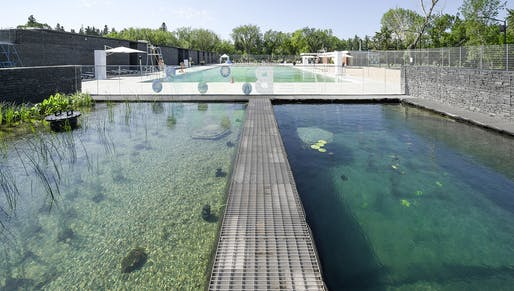 Awards of Excellence – Innovation in Architecture: Borden Park Natural Swimming Pool. Credit: gh3