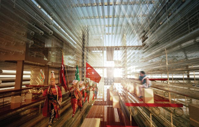 Special Mention/Interior Architecture: Wave Cube: Turkish Pavilion for Expo Yeosu, Onat Oktem, Zeynep Oktem, Ziya Imren, Turkey