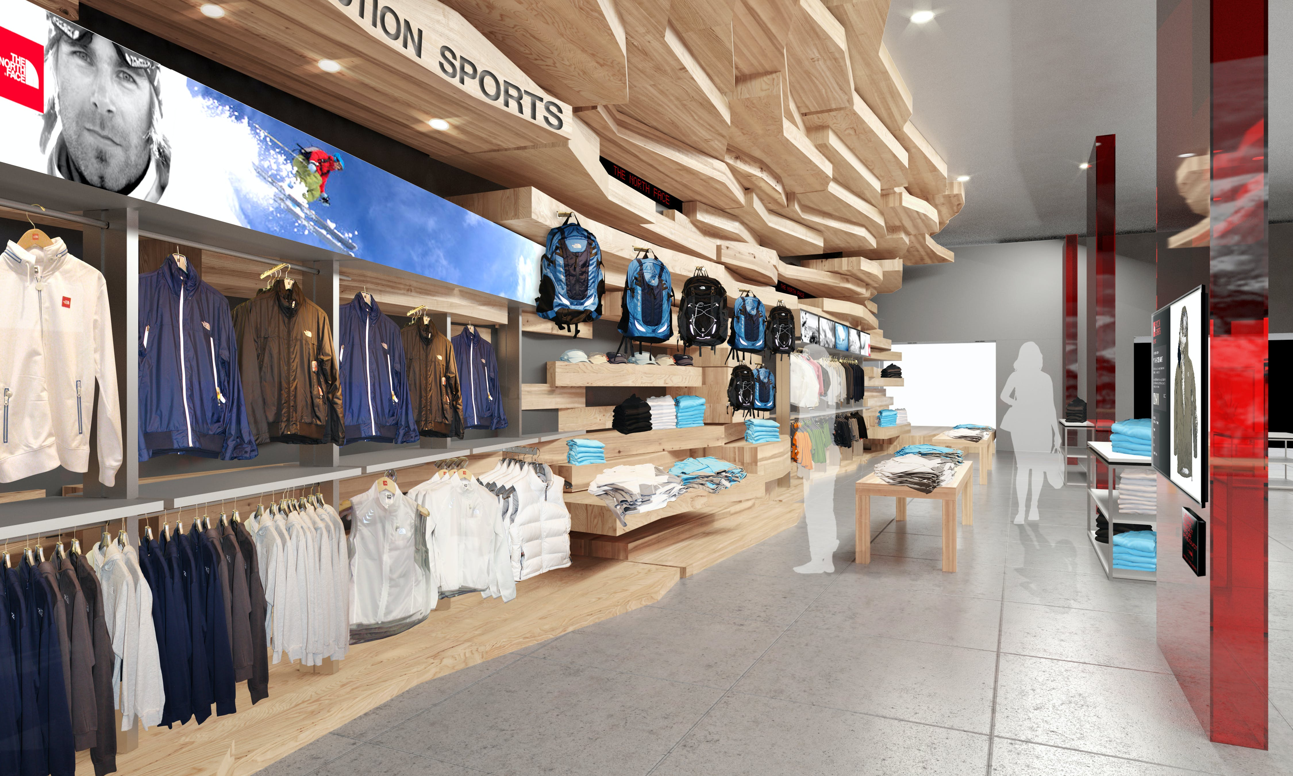north face prototype store william prince archinect. Black Bedroom Furniture Sets. Home Design Ideas