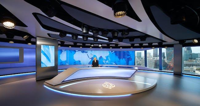 INSIDE World Festival of Interiors - Creative Reuse: Al Jazeera Media Network broadcast studio, UK by Veech x Veech. Photo copyright Hufton + Crow.