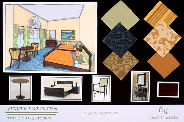 Typical Guest Room Perspective Rendering