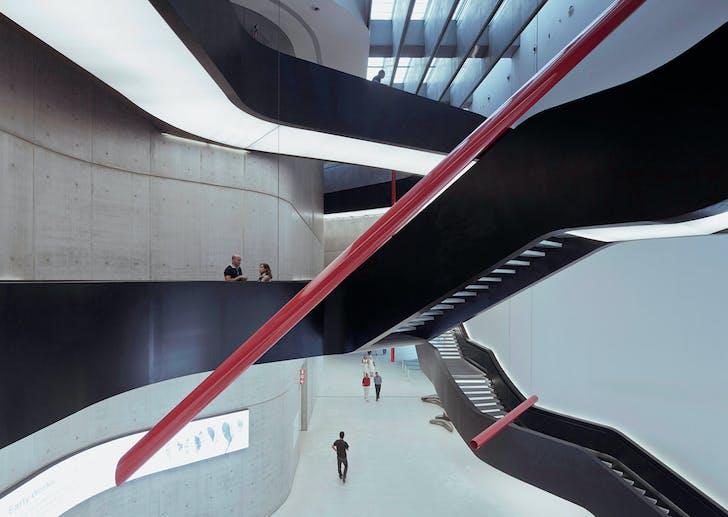 Maxxi Museum, Zaha Hadid, Rome © Franck Bohbot