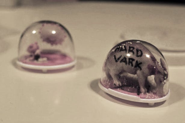 I organized and led a 'Let's Make Snowglobes' workshop at the Brooklyn Brainery. These are some of the creations.