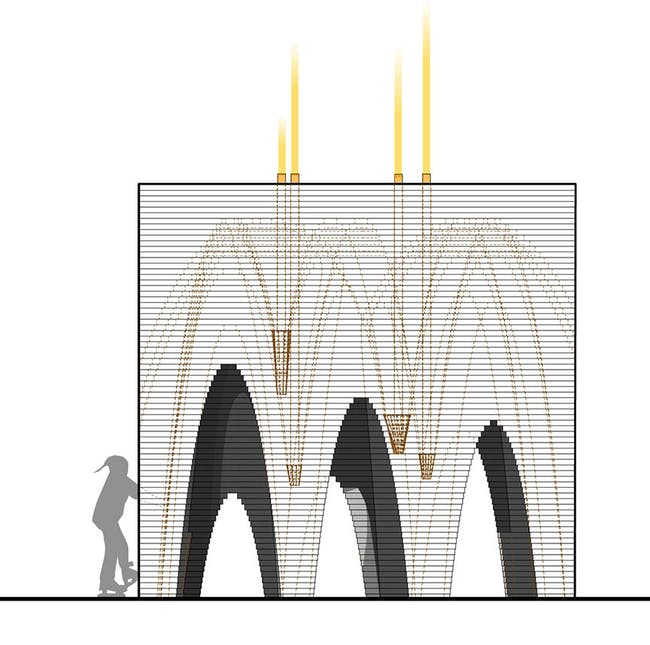 'Stalactite' by APTUM Architecture - Warming Huts v. 2014 competition entry. Image: APTUM.