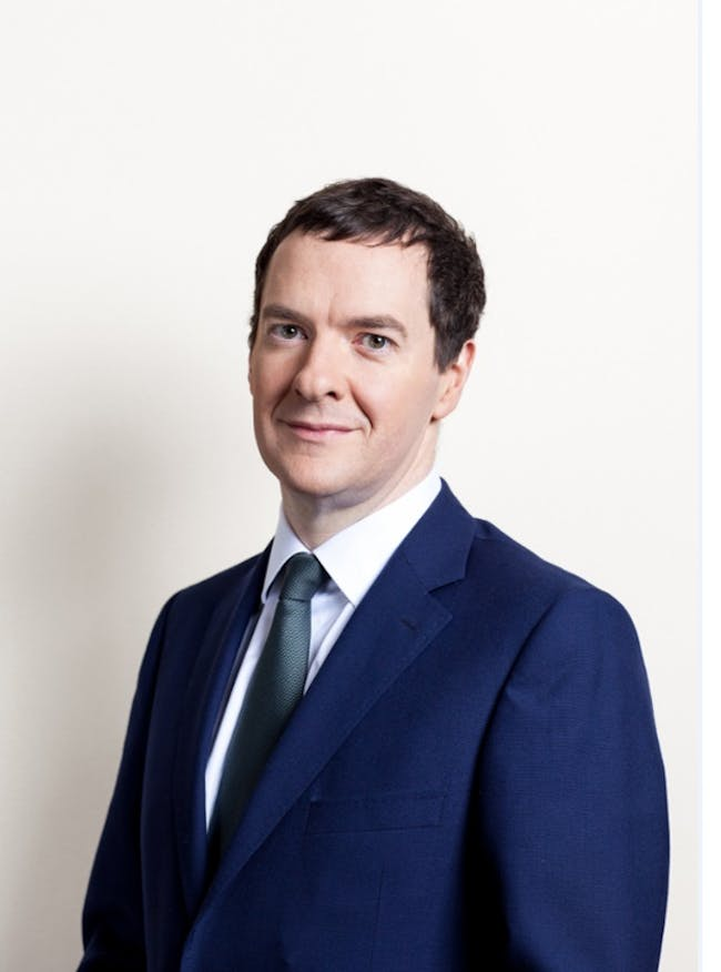 George Osborne MP, stripped of his top hat, monocle, and mustache, strikes a pose. Credit: Wikipedia