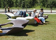 'Minamora' bench for Expo Milano 2015