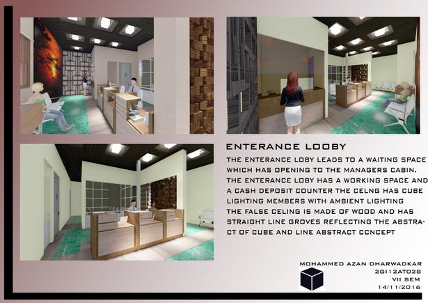 Interior Design Bank Mohammed Azan Dharwadkar Archinect