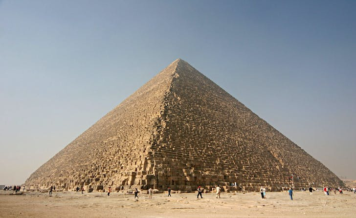 The pyramids of Giza are some of the oldest works of architecture but are will likely be among the longest to survive into the future. Credit: Wikipedia