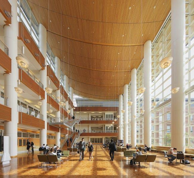 University of Illinois at Urbana-Champaign, Business Instructional Facility by Pelli Clarke Pelli Architects. Photo © Jeff Goldberg / Esto