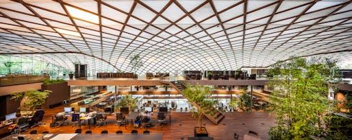 ROGIC -ROKI Global Innovation Centre, Hamamatsu, Shizuoka, Japan Courtesy of Tetsuo Kobori Architects. 2014 © Takahiro Arai