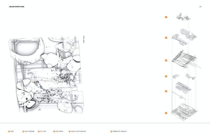 Spread from 'M': BSP Drawings. Image: Morphosis Architects.