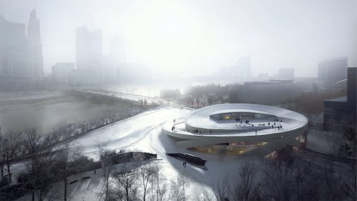 National Veterans Memorial and Museum rendering by Allied Works, located in Columbus, Ohio. Image: MIR.