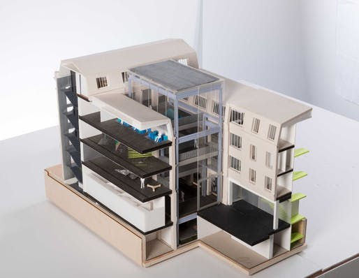 A scale model of the Fondation d'Entreprise Galeries Lafayette building. Image: OMA / Fondation d'Entreprise Galeries Lafayette