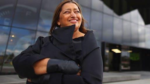 Zaha Hadid, image via bbci.co.uk.