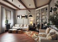 Livingroom 3d render for Fresno project
