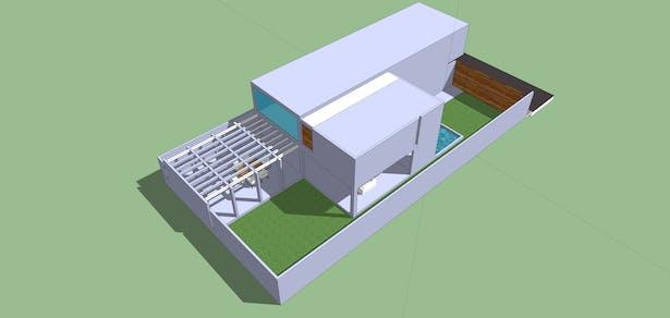 Rear View_SketchUp 3D Rendering