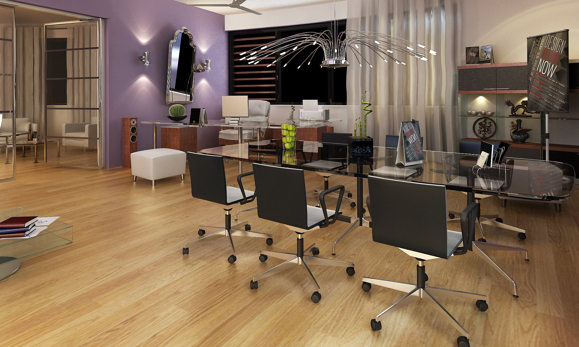 Office interior design in 3d dennis de priester archinect for Office 2010 design mode