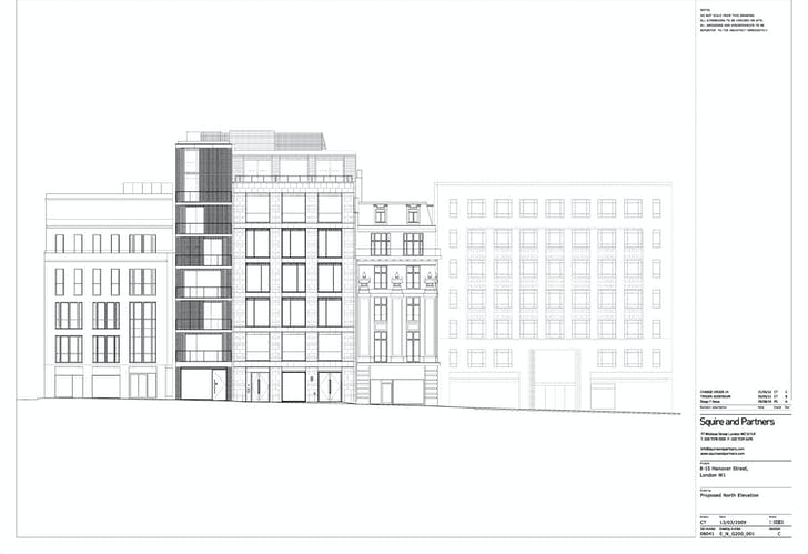 North Elevation - General. Image courtesy of Squire and Partners.
