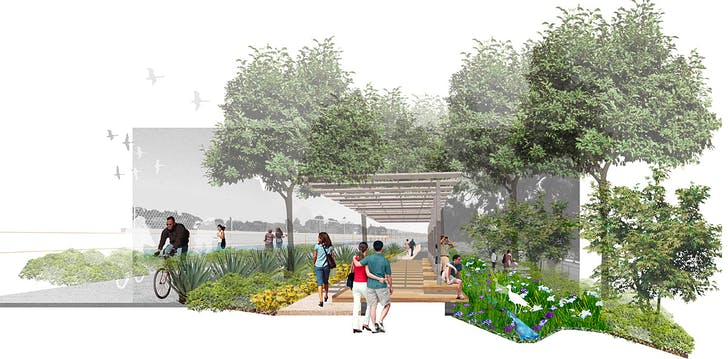 Milton Street Park, Marina del Rey, California; Graphics Courtesy of SWA