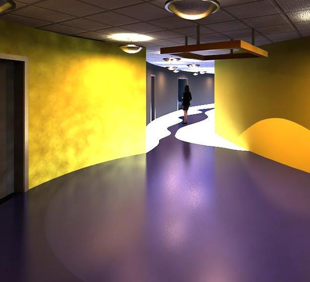 Neuron hallway flooring