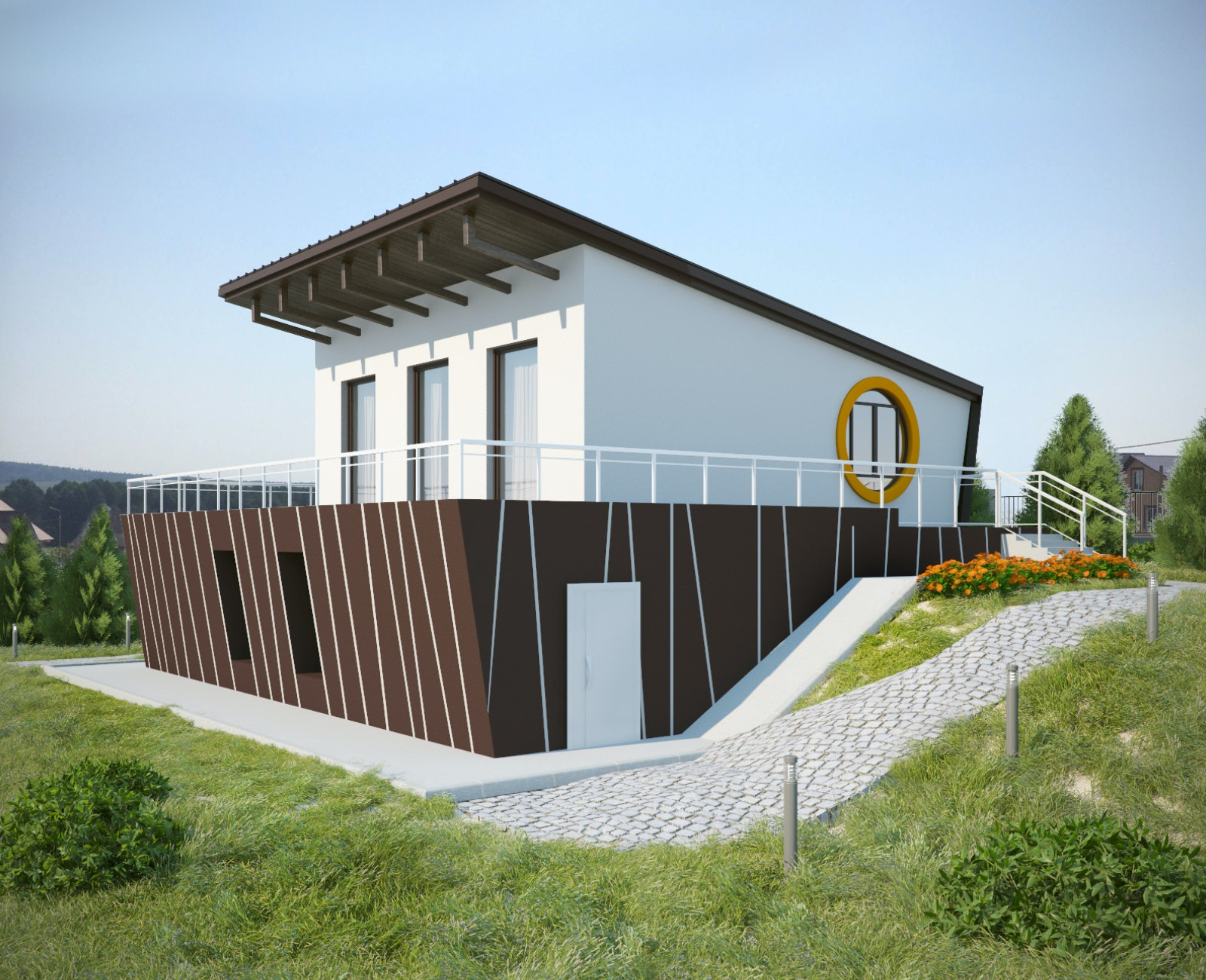 Reconstruction of a house in the Minsk region 43