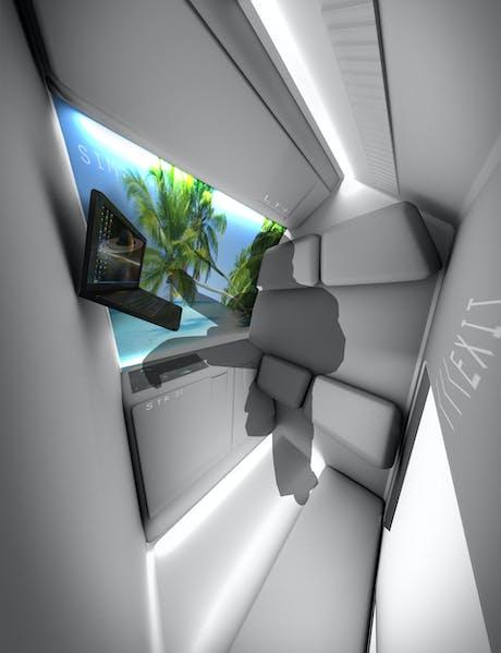 RAF-Alpha: Space Craft Interior study model. Quarters