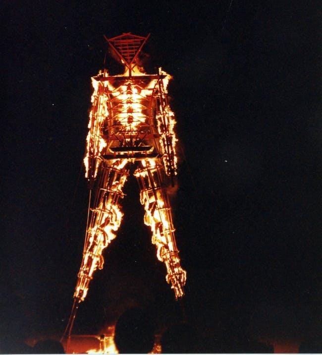 Burning Man effigy (photo from dustandillusions)