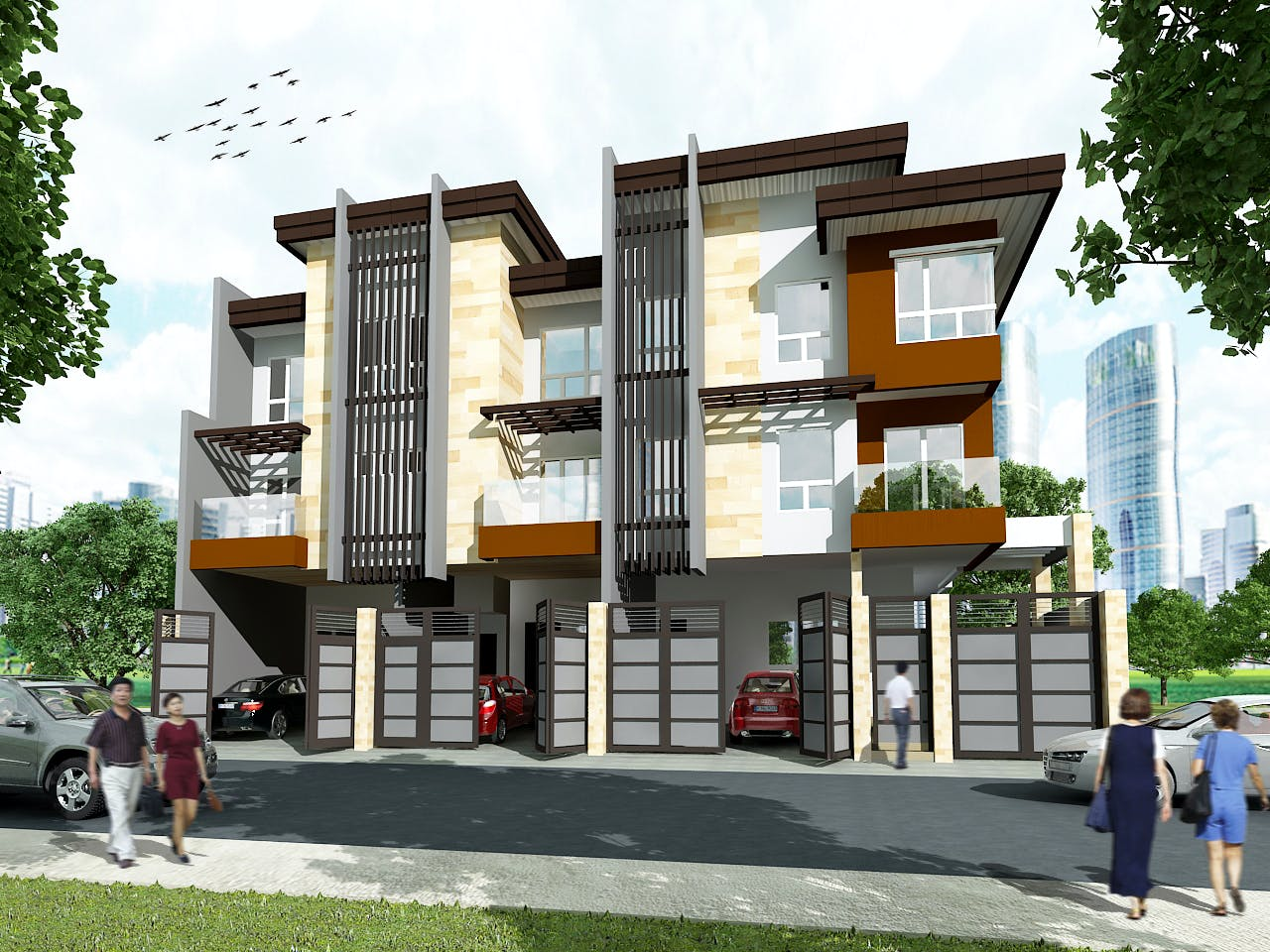 3 storey 3 unit townhouse rabbi chester miranda archinect for Townhouse design philippines