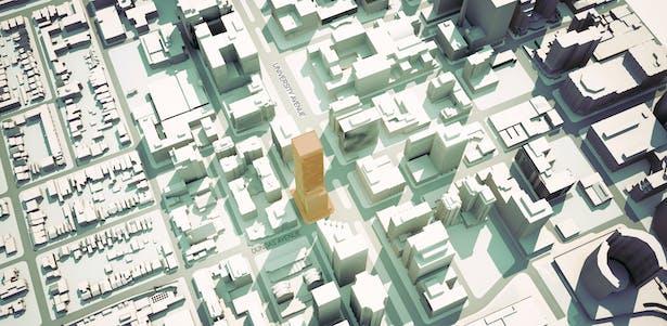 488 University site plan